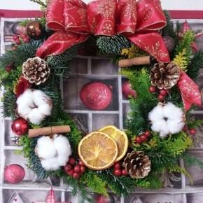 クラシカルクリスマスリース